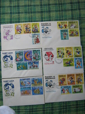 Disney- Mickey Mouse, Donald Duck Etc - Small Selection Of First Day Covers