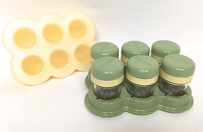 Baby Bullet Replacement Storage Containers - 6 Silicone, 6 Twist Tops, Date