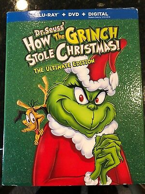 How the Grinch Stole Christmas: Ultimate Edition (BD) Bluray Sealed Free Ship