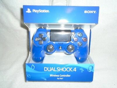 "Dual Shock 4 Wireless Controller (Sony Playstation 4) ""NEW"" ( Blue)"