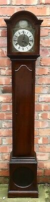 Antique Edwardian Mahogany 3 Train Musical Westminster Chime Grandmother Clock