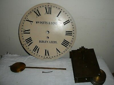 Chain Driven Fusee Movement With Pendulum & Clock Face, Wm Potts, Burley, Leeds