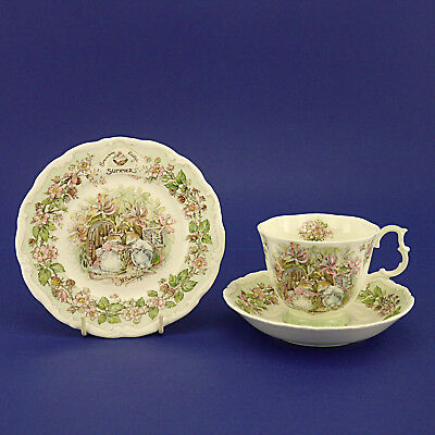 Royal Doulton Brambly Hedge 'Summer' Tea Trio - Cup, Saucer & Plate (1983)