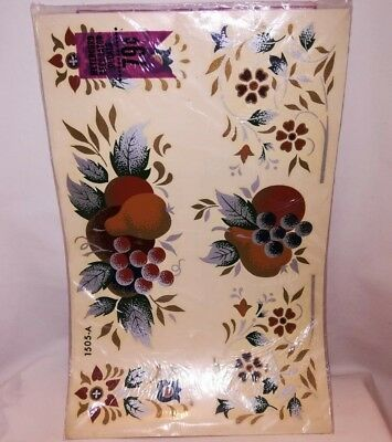 VTG NIP MEYERCORD Water Slide Decals ~ Tole Painting Fruits & Flowers ~ LOVELY