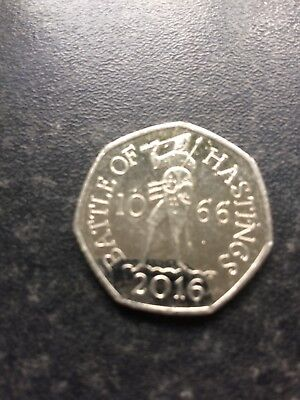 Battle of Hastings 2016 50p coin