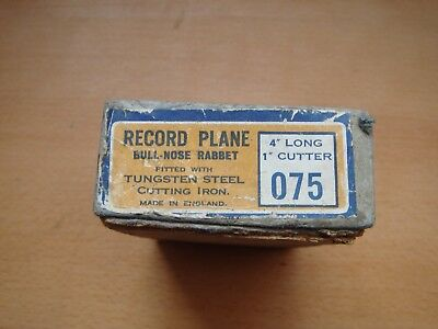 VINTAGE RECORD No,075 RABBET PLANE IN BOX