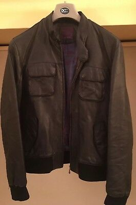 8f2cf4fd2bb6e Ted Baker Mens Black Leather Jacket (Size 5) re-advertised due to time