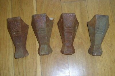 Victorian Vintage Antique Reclaimed Cast Iron Bath Feet Legs Set of 4 w Screws