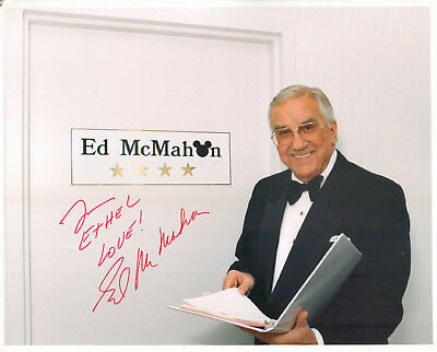 ED McMAHON (d.2009) - Television Personality - Tonight Show - Autograph Photo