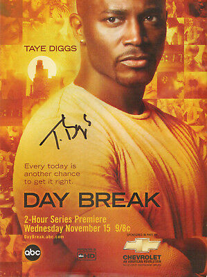 TAYE DIGGS - Actor - Private Practice / Rent - Autograph Day Break Ad