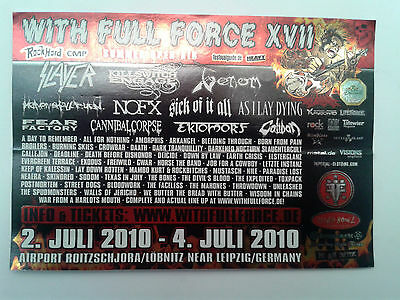 STICKER - WITH FULL FORCE - WFF 2010 Slayer/Killswitch Engage/Venom/Fear Factory
