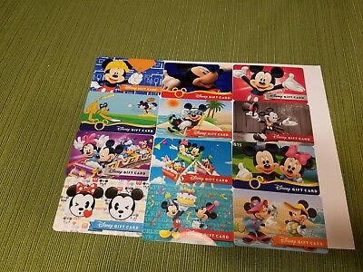 "Disney Collectible  Gift Cards ""NO VALUE"" Lot of 12 Mickey Mouse"
