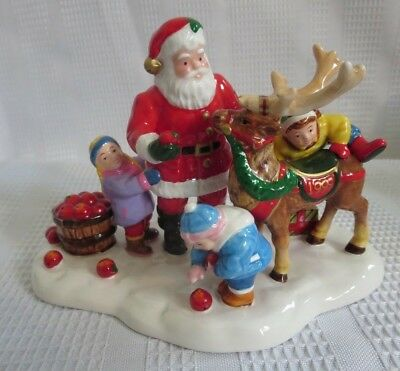 DEPT 56 Snow Village limited accessory! Santa Comes to Town 1999! Big sale!