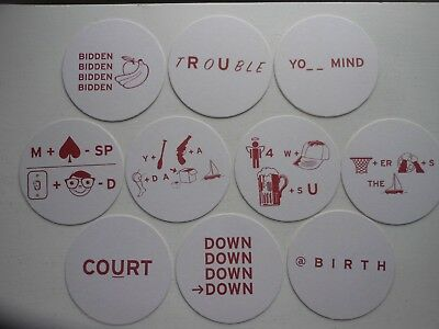 10 diff. NARRAGANSETT BEER COASTERS-PUZZLES,REHBUS-125 YEARS-RHODE ISLAND
