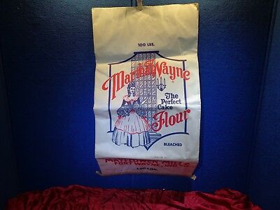Antique Advertising 100 Pound Flour Sack Bag  FT WAYNE INDIANA MAYFLOWER MILLS