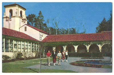 Kentfield California c1950's College of Marin, women students, campus building