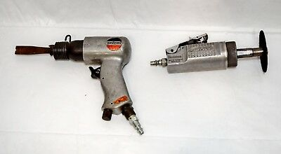 Lot Of 2 Air Tools Blue-Point At150 Cut Off Tool & Ohio Forge Air Chisel 18117-3