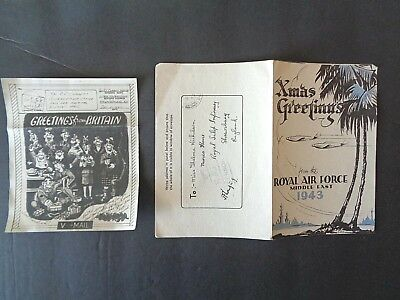 WW2 letter and V-Mail  1943 (Christmas Greetings)