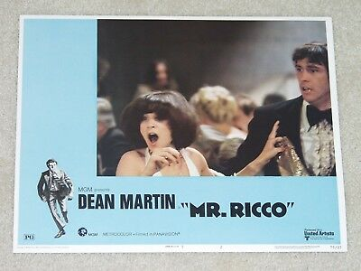 MR. RICCO  Dean Martin - Eugene Roche - Cindy Williams - 1975 Lobby Card