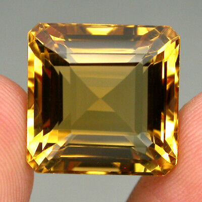 Citrine Clean Gem! 26.45ct Octagon Cut 16mm 100%natural Top Yellow Golden Brazil