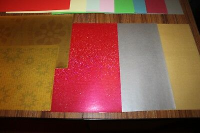 5x Sticky Backed Silver A4 +23Pearly paper, Plain card, Xmas & Patterned Papers