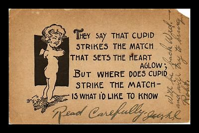 Dr Jim Stamps Us Cupid Strikes The Match Comic Topical Postcard