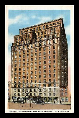 Dr Jim Stamps Us Hotel Chesterfield New York City White Border View Postcard