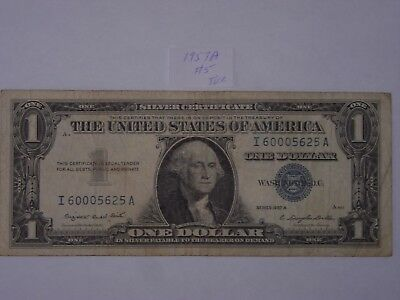 $1 Dollar 1957-A Lot #5 Note One Dollar Bill Blue Seal Silver Certificate