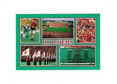 Picture Postcard- Indiana University Memorial Stadium- Home Of The Hoosiers Bk3