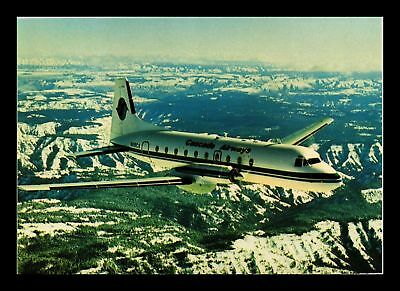 Dr Jim Stamps Cascade Airways Hs 748 Airplane Continental Size Postcard