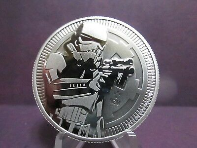 2018 STORM TROOPER BU REVERSE PROOF LIKE ONE OUNCE $2 COIN FINE 999s% PURE