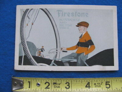 Vintage, rare FIRESTONE MOTORCYCLE and BICYCLE TIRES INK BLOTTER