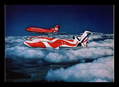 Dr Jim Stamps Braniff Flying Usa Colors Airplane Continental Size Postcard