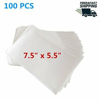 100 Self Adhesive Clear Packing List  7.5x5.5 Shipping Labels Envelopes Pouches