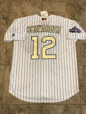 f6e29d6b8 Kyle Schwarber  12 Chicago Cubs Gold World Series Champions Men s Jersey  Large