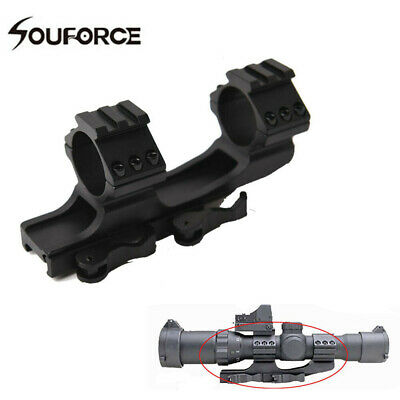 """1"""" /30mm Dual Ring QD Quick Release Scope Mount Cantilever Heavy Duty Rail 20mm"""