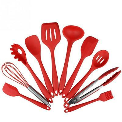 Silicone Cooking Utensils Set Kitchen Tools Nonstick Cookware Bakeware Gadgets