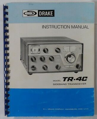 RL Drake TR-4C Original Instruction Manual in Very Good Condition