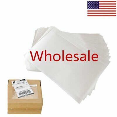 100-1000 Clear Adhesive Packing List Shipping Label Envelopes Pouches 7.5 X 5.5