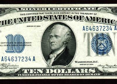 $10 1934 Silver Certificates ** MORE CURRENCY FOR SALE ALL MONTH **