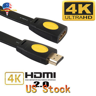 High Speed HDMI V2.0 Extender 4K 60Hz Extension Cable Adapter Male to Female US