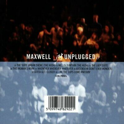 Maxwell Mtv Unplugged -  CD M5VG The Cheap Fast Free Post The Cheap Fast Free