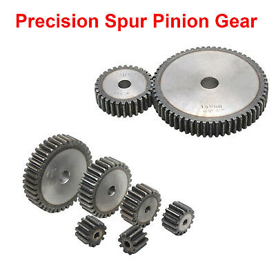 High Precision 1.5Mod 23T-90T Spur Gear #45 Steel Motor Pinion Gear 15mm Thick