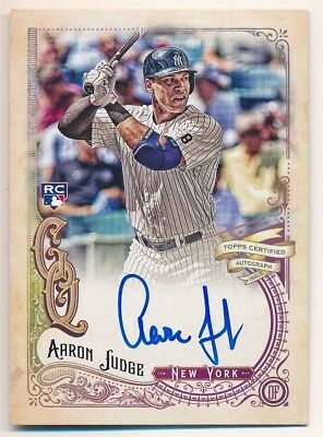 Aaron Judge 2017 Topps Gypsy Queen Rc Rookie Autograph Yankees Auto Sp $350