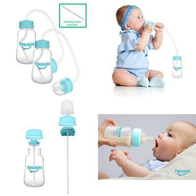 Tinukim Hands Free Baby Bottle - Anti-Colic Nursing System, 4 Ounce (Set Of 2 -