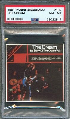 1981 Panini Discorama #102 The CREAM Eric Clapton Album STICKER Card PSA 8 Rare!