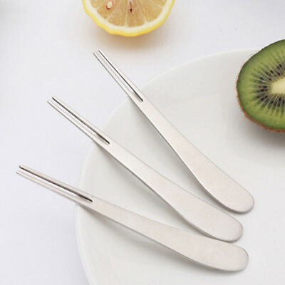 Stainless Steel Vegetable Salad Fruit Cake Fork Siver Table Dinnerware CO