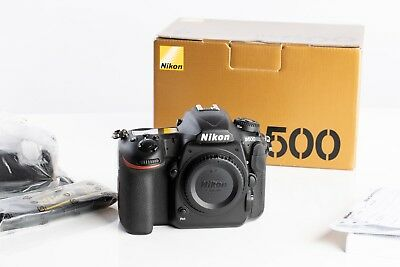 Nikon D500 20.9 MP Digital SLR Camera - Black (Body Only) Shutter count 5313