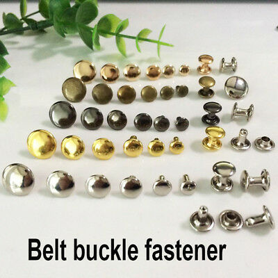 Double Cap Rivets studs Rapid Snap Rivet Leather Craft Belt Pet Collar Decor