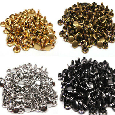 Double Cap Rivet Studs Rapid Snaps Rivets Leather Craft Belt  Decor Repair NEW